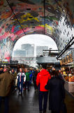 Rotterdam, Netherlands - May 9, 2015: People visit Markthal in Rotterdam. Royalty Free Stock Photography