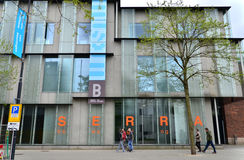 Rotterdam, Netherlands - May 9, 2015: People visit Museum Boijmans Van Beuningen in Rotterdam Stock Images