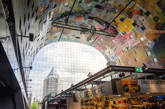 Rotterdam, Netherlands - May 9, 2015: Retail Shop in Markthal market in Rotterdam Stock Image
