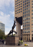 Rotterdam. NETHERLANDS - MAY 16, 2017: The statue symbolizes the destruction of  by German bombs in WWII Stock Image