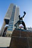 Rotterdam. NETHERLANDS - OCTOBER 24: Verwoeste Stad (1953) -destroyed city-  sculpture by  Ossip Zadkine, on October 24, 2013, in , Netherlands Royalty Free Stock Image