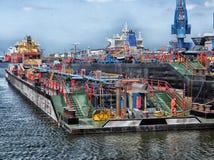 Rotterdam, Netherlands, Port Royalty Free Stock Photos