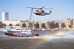 ROTTERDAM, NETHERLANDS - SEPTEMBER 09: Demonstration of a rescue Royalty Free Stock Image