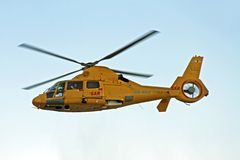ROTTERDAM, NETHERLANDS - SEPTEMBER 09: Army helicopter is flying Stock Photos