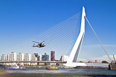 ROTTERDAM, NETHERLANDS - SEPTEMBER 09: Demonstration of a rescue Stock Image