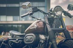 ROTTERDAM, NETHERLANDS - SEPTEMBER 2 2018: Motorcycles are shining at Dutch motor event 'Rotterdam Dirt Ride'. ROTTERDAM, NETHERLANDS - SEPTEMBER 2 2018 stock photos