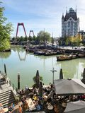 Panoramic view of Rotterdam royalty free stock photography