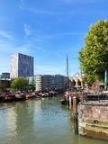 Panoramic view of Rotterdam royalty free stock images