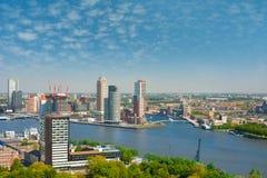 Rotterdam and Nieuwe Maas river Stock Images