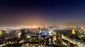 Rotterdam at night Stock Photos