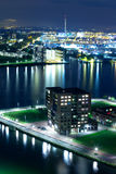 Rotterdam by night, the Netherlands Royalty Free Stock Photo