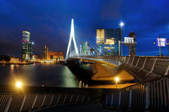Rotterdam at night Stock Images