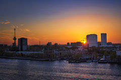 Rotterdam no crepúsculo Imagens de Stock Royalty Free