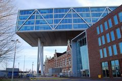 Rotterdam nowożytna architektura w holandiach Fotografia Royalty Free