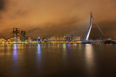 Rotterdam på natten Royaltyfri Foto