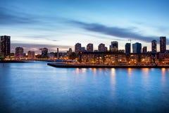 Rotterdam på skymning Royaltyfri Fotografi