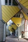 Rotterdam, Paesi Bassi Il cubo alloggia Kubuswoningen in olandese Fotografie Stock