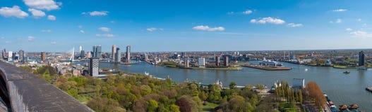 Rotterdam panorama Arkivbild