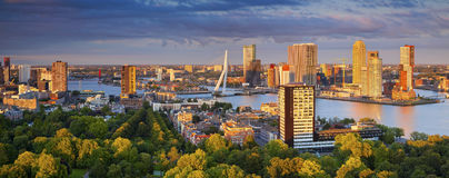 Rotterdam Panorama. Stock Photography
