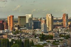 Rotterdam panoramautsikt Arkivfoton