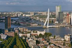 Rotterdam panoramic view Stock Images