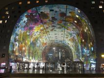 Rotterdam por noche Imagen de archivo libre de regalías