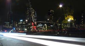 Rotterdam por noche Fotografía de archivo libre de regalías