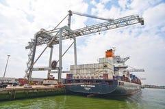 Rotterdam port Arkivbilder