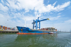 Rotterdam port Obraz Royalty Free