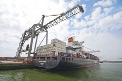 Rotterdam port Fotografia Stock