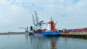 Rotterdam port Royaltyfri Fotografi