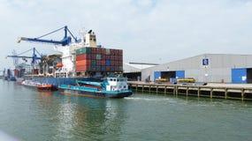 Rotterdam port Royaltyfria Foton