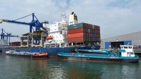 Rotterdam port Obraz Stock