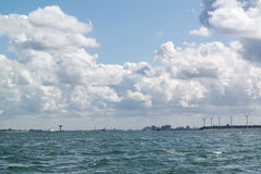 Rotterdam port entrance from sea, Netherlands Royalty Free Stock Photography