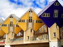 Rotterdam-rombic Häuser Stockfoto
