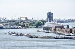 Rotterdam rzeka i schronienie zdjęcie stock