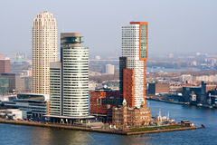 Rotterdam skyline. Rotterdam city skyline on a cold winter afternoon Royalty Free Stock Images