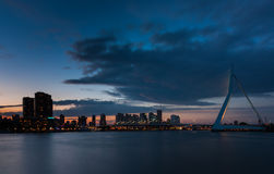 Free Rotterdam Skyline After Sunset Royalty Free Stock Photography - 40937667