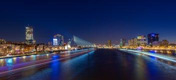 Rotterdam skyline cityscape by night , Netherlands travel in Europe. Rotterdam skyline cityscape by night , travelling to Netherlands, Europa stock photography