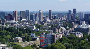Rotterdam skyline Stock Photography