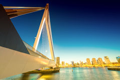 Rotterdam skyline from Erasmus Bridge Stock Photos