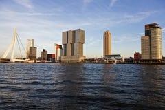 Rotterdam skyline with Erasmus Bridge Royalty Free Stock Image