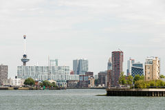 Rotterdam skyline with euromast Stock Photos