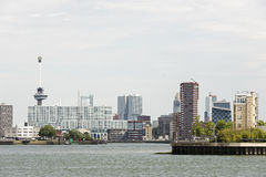Rotterdam skyline with euromast Royalty Free Stock Image