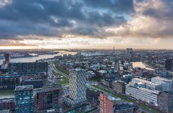 Rotterdam skyline from the euromast Stock Image