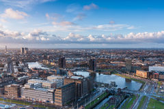 Rotterdam skyline from the euromast Stock Photo