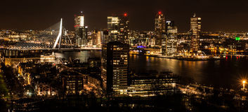 Rotterdam Skyline. From Euromast Tower, Rotterdam, Netherlands Royalty Free Stock Photos