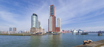 Rotterdam skyline Stock Images