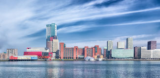Rotterdam skyline Royalty Free Stock Photo