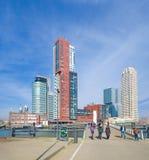 Rotterdam skyline Stock Images